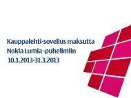 Kauppalehti-sovellus maksutta Nokia Lumia -puhelimiin ... - Sonera