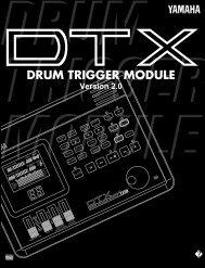 DRUM TRIGGER MODULE Version 2.0 - Yamaha