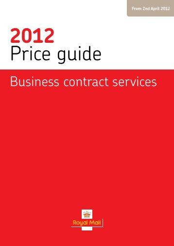 Business contract services Price guide 2012