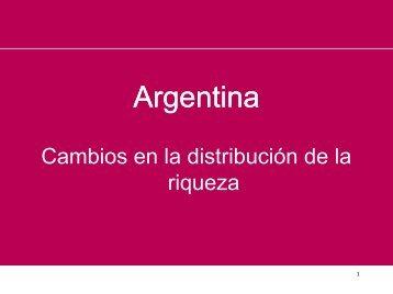 La distribucion de la riqueza en Argentina