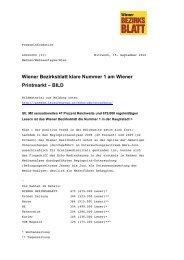 Wiener Bezirksblatt klare Nummer 1 am Wiener Printmarkt – BILD