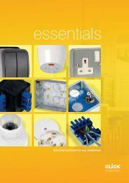 Essential products for any installation