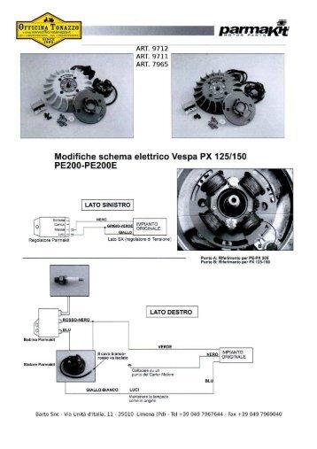 Schema Elettrico Vespa Px 125 : Catalogo esplosi dei modelli vespa px