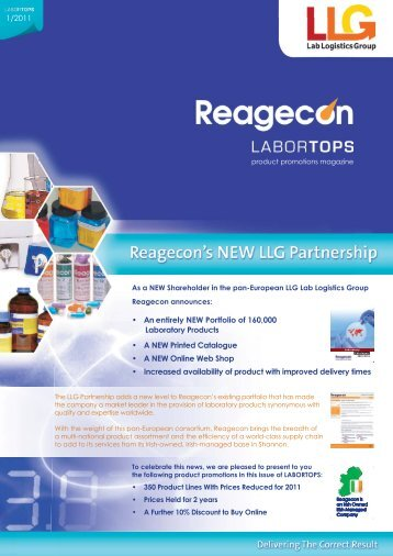 A NEW Printed Catalogue • A NEW Online Web ... - Shop - Reagecon