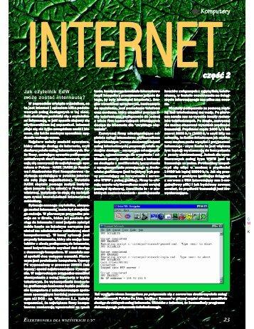 Internet, cz. 2 - Elportal