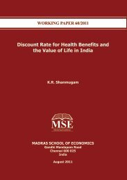 Discount Rate for Health Benefits and the Value of Life in India