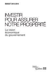 Investir pour assurer notre prospérité - Budget - Gouvernement du ...
