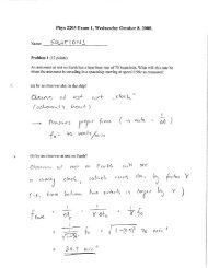 Phys 2203 Exam 1, Wednesday October 8, 2008.