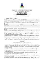 Relazione Tecnica Asseverata Sanitaria - Comune di Tremestieri ...