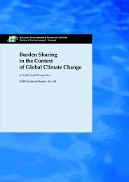 Burden Sharing in the Context of Global Climate Change - A North ...
