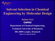 Solvent Selection in Chemical Engineering by Molecular Design