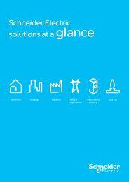 Solutions at a Glance - Schneider Electric