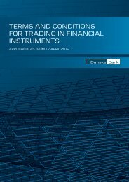 terms and conditions for trading in financial instruments - Danske Bank