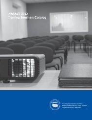 NASACT 2012 Training Seminars Catalog