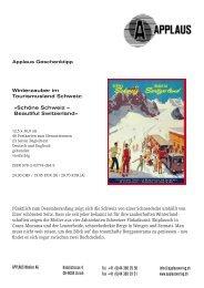 Winterzauber im Tourismusland Schweiz: «Schöne ... - Applaus