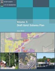 Volume 3: Draft Gorst Subarea Plan - Kitsap County Government