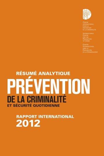 Français (PDF) - International Centre for the Prevention of Crime