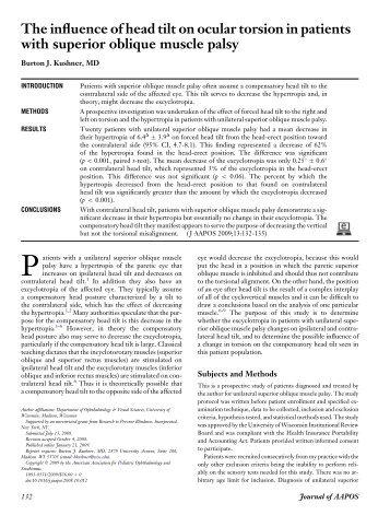 kushner #2.pdf - The Private Eye Clinic