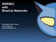 DNSSEC with BlueCat Networks - Internetdagarna