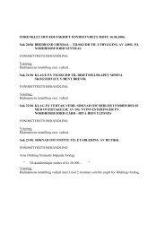 forenklet hovedutskrift fondsstyrets mte 16 - Bindal kommune