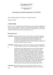 Curriculum Vitae of Jean-Pierre, Raymond, C.A.M. CONTZEN ...