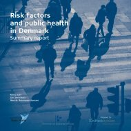 Risk factors and public health in Denmark - Statens Institut for ...