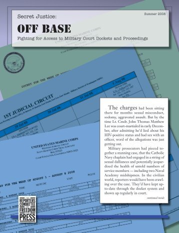 Off Base - Reporters Committee for Freedom of the Press