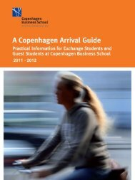 Arrival Guide 2011-2012 - Copenhagen Business School