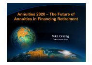 Annuities 2020 – The Future of A iti i Fi i R ti t Annuities in Financing ...