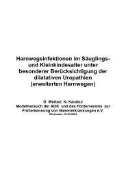 Harnwegsinfektionen im Säuglings - Förderverein zur ...