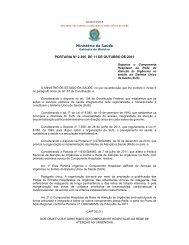 Ministério da Saúde PORTARIA Nº 2.395, DE 11 DE OUTUBRO DE ...