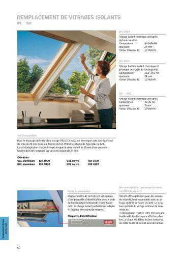 Remplacement de vitrages isolants for Prix vitrage velux remplacement