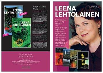 Leena Lehtolainen 2011 - Elina Ahlback Literary Agency