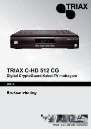 Triax C-HD 512 CG Manual - Sappa