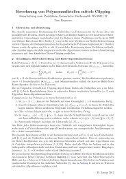 Berechnung von Polynomnullstellen mittels Clipping - panthema.net