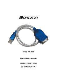 Conversor USB-RS232 Conversor USB-RS422/485 ... - Circutor