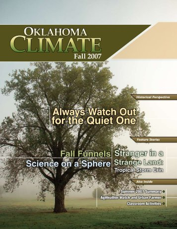 for the Quiet One - Oklahoma Climatological Survey