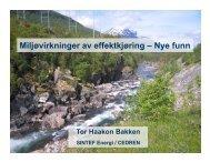 Miljøvirkninger av effektkjøring – Nye funn - Energi Norge