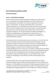 M-net Telekommunikations GmbH - B4B Schwaben