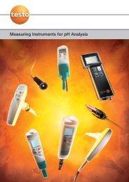 Measuring Instruments for pH Analysis - Testo
