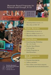 Museum-Based Programs for Schools and Groups, K–12 New ...