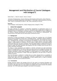 Management and Distribution of Course Catalogues ... - eunis 2008