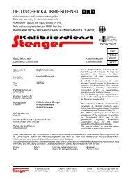 DEUTSCHER KALIBRIERDIENST (DKD) - Kalibrierdienst Stenger
