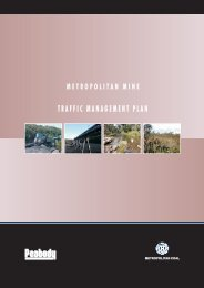 Metropolitan Mine Traffic Management Plan - Peabody Energy