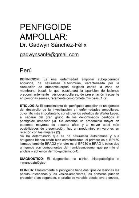 33. penfigoide ampollar - Antonio Rondón Lugo