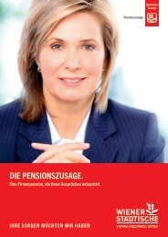 DIE PENSIONSzuSAGE. - Wiener Städtische