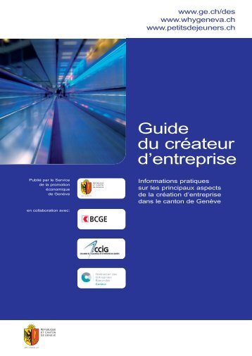 Guide du créateur d'entreprise - Etat de Genève