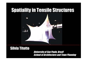 Spatiality in Tensile Structures - LMC