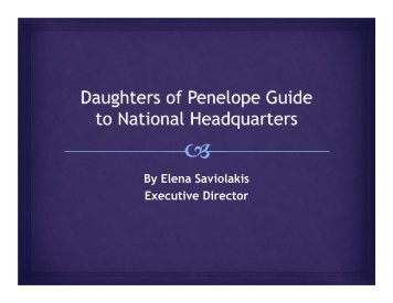 DOP Guide to Headquarters - Daughters of Penelope