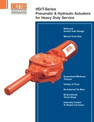 Bettis HD/T Series Brochure (704b) - Enertech